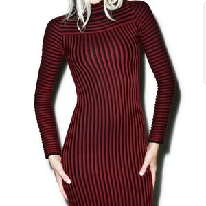 FOR LOVE & LEMONS Knitz switch stripe dress